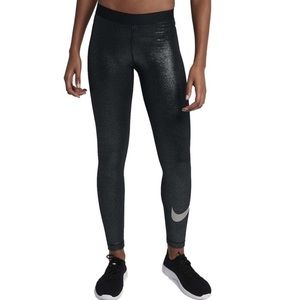New Nike Pro Cool Sparkle Training Tights/Metallic
